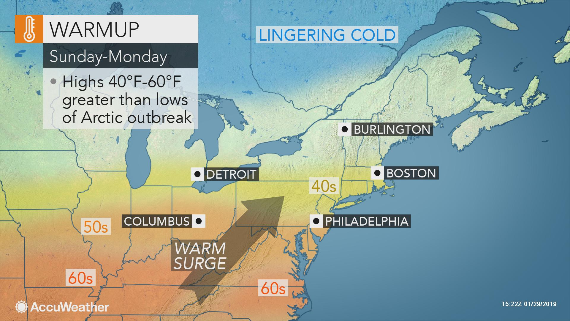 Warm' Weekend Weather to Follow Arctic Cold